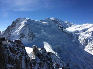 Mont Blanc still has a glacier!